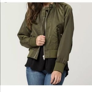 Free People Midnight Bomber Jacket M .brand new